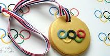 Olympic Treats / Olympic rings, sports, medals, gold, silver, bronze