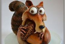 Ice Age Cakes and Treats / Sid, Scrat, Diego, Manfred, Ellie, Ice Age, cake, cupcake,