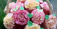 Cupcake Bouquets / Flowers, Cupcakes, Bouquets