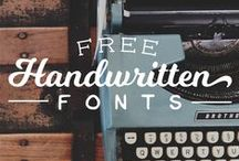 Paper Products / Printables, Fonts, & Typography Inspiration