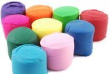Hands on play / Playdough, slime, gook, clay, etc / by Calli Fox