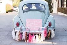 // Heading To The Altar! / Whether it's on the back of a vintage Vespa or a beautiful stallion - arrive their in style..
