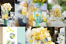 Inspiration for our wedding / Aqua/mint, white & yellow/lemon garden party wedding