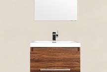 """AT-8006-GW 24"""" Single Modern Bathroom Vanity Set Walnut"""