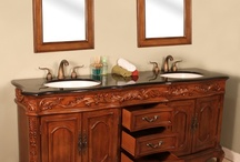 """HWM-003-B-73 73"""" Double Bathroom Vanity Black Granite"""