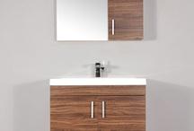 """AT-8085-GW 30"""" Single Modern Bathroom Vanity Set Walnut"""