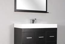 "AT-8041 39"" Single Modern Bathroom Vanity Set Black"