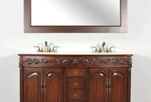 "HWM-201-60-CD 60"" Double Bathroom Vanity Cream Marble"