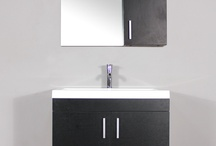 AT-8085 30''SİNGLE MODERN BATHROOM VANİTY SET/BLACK