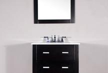 """FW-8017-24 24"""" Espresso Single Bathroom Vanity/White Marble"""