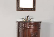 "FW-904-TB-24 24"" Single Bathroom Vanity Tan Brown Granite"