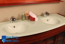 "AW-082-63-C 63"" Double Modern Bathroom Vanity Set | Cherry"