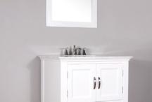 "LA-209-30 30"" White Single Bathroom Vanity | White Marble"