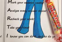 e n c o u r a g e m e n t / little acts of encouragement for school testing