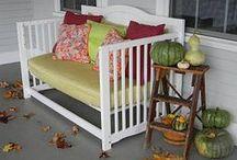 Repurposing change table & crib / by Jodi Lippert