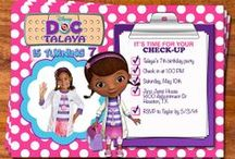 Party: McStuffins Invites & Thank You Notes / Doc #McStuffins #Birthday #Party #Invites & #ThankYouNotes