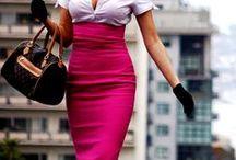 Saia Lapis / A  saia lápis está cada vez mais em alta e conquistando a cada dia a mulher brasileira que gosta de se sentir elegante... Inspirações mil para usar a peça com confiança!