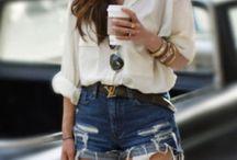 Shorts e Camisa / Meu combo preferido, a combinação de shorts e camisa sempre rende looks pra lá de interessantes! Não me canso nunca ....