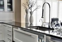 House & Home - Kitchen / Our Kitchen colors are lime green, black, and white.