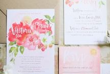 Printed Goodies & Calligraphy / Wedding invitation and paper goods inspiration. / by 2 Brides Photography
