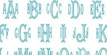 FONTS / MOST POPULAR FONTS for SEW GRACIOUS MONOGRAMS on Etsy! Please contact me on Etsy with questions or to discuss custom options! :)