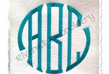 Fonts2 / More Monogram Fonts for items in the Sew Gracious Etsy Shop.  For the MOST POPULAR FONTS see our other FONTS board.