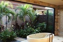 Baños con jardin