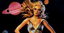 Retrofuturism / Vintage sci-fi reimagined. I love this kind of artwork.
