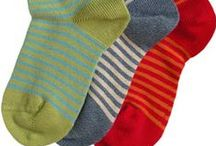 Socks / Socks for infants, children, and women, made from high quality organic and hand-picked fiber.