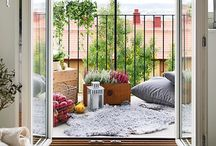 """home • balcony— / """"Home is where we should feel secure and comfortable."""""""