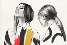 """drawings • fashion— / """"Drawing is the discipline by which I constantly discover the world."""""""