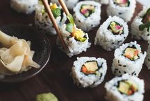 """food • sushi— / """"Making sushi is an art, and experience is everything."""""""