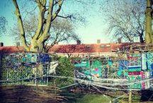 ComART Blauw Tilburg/Oud-Noord Kunstwerk 1 / UPDATE - this was board marked as spam. IT ISN'T! It belongs to  communityArt project Blauw Tilburg. Over 100 people worked on these woven constructions on the pics.  A pic a day of artwork 1 – made by BS Cleijn Hasselt;  Kringloopatelier Uit n iets; Las NAH clienten; Den Herdgang  wijkgenoten Oud-Noord. Special thanks to these volunteers and artists: Ro-Nalt Schrauwen; Suze van Dijk; Bart van de Sanden;  Annemarie van Wijk. Elke dag een foto van Blauw Tilburg kunstwerk 1