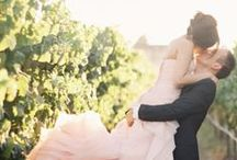 blushing bride. / stay current with wedding trends and styles by going blush.