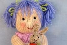 Handmade Toys & Patterns / Mostly knitted toys and rag dolls.  I love them for their innocence and simplicity in this very commercial world.  I have also stated when a pattern to knit/make the doll/toy is available. / by Pearl Black