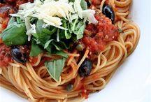 B A S T A • P A S T A!! / Pasta Dishes, zoodles, spaghetti squash.... / by CANDY B.