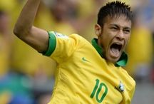 """Neymar / At 21 years old, this """"little fellow"""" of 1m74, weight 65 kg, already possess a remarkable technique. We hope, here, a nugget of Brazilian football promised to a bright future!  Neymar is the shooting star of the future, one of the greatest hopes of football world. http://www.braziltravelbeaches.com/neymar.html"""
