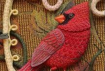 For the Birds / Just love birds! Here's a collection of photographs, drawings, embroideries, paintings, fabrics - and more!
