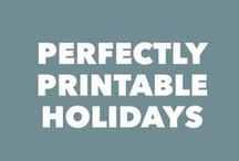 Perfectly Printable Holidays / free & printable decor, invites, party packs, checklists, organizers & gifts for the holidays. All perfectly printable! Inspired by the 2013  31 Days of Perfectly Printable Holiday gifts series on http://www.creativekristi.com