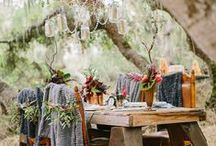 boho chic wedding. / bring color, flare and bare feet to your wedding.