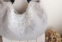 bag: Linen / Canvas / Burlap / by Amornrak Goy