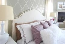 Stenciled walls / Inspiration to the guest bedroom..