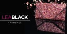 """Lea Black Couture Handbag Collection / Lea Black Couture Collection Handbags are custom designed, handmade, sparkle and statement accessory clutches for any evening wear, nighttime and red carpet event. The scale, size and finish of each bag makes it a """"wow"""" collectors item. Available in an assortment of dazzling color ways and sparkling crystals these made to order bags are a perfect addition to any wardrobe. Available at LeaBlack.com."""