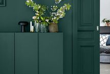 AphroChic Color Crush: Green / Green interiors that reflect AphroChic's Brooklyn In Color Paint Collection and the perfect shade of green - #botanicgreen.