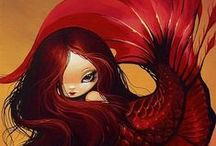 Mermaids / All the pretty mermaids! / by Sarah Rolland