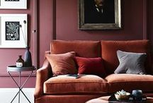 AphroChic Color Crush: Mauve / Redish-brown interiors that reflect AphroChic's Brooklyn In Color Paint Collection and the perfect shade of mauve - #parlour.