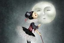 Sleep nice... ღ / Good night. Nite nite. Buenas noches. Sleep tight. Sweet dreams. Stars. Moon. / by Cris Triju