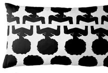 AphroChic Wallpaper, Pillows and Furnishings / Our exclusive collection of culturally-inspired home furnishings, including pillows, wallpaper, headboards, ottomans and drapery. #aphrochicxguildery / by AphroChic