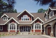 Stunning House Plans / Stunning house plans feature home designs with major curb appeal. These homes have great stonework, brick details, color combinations, driveway ideas, and landscaping ideas.