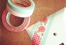 Washi Tape Ideas / Inspiring washi tape ideas ! All the projects that comes out of using washi tape are just so inspiring! So many ideas and so many washi choices! www.cutetape.com / by Cute Washi Tape